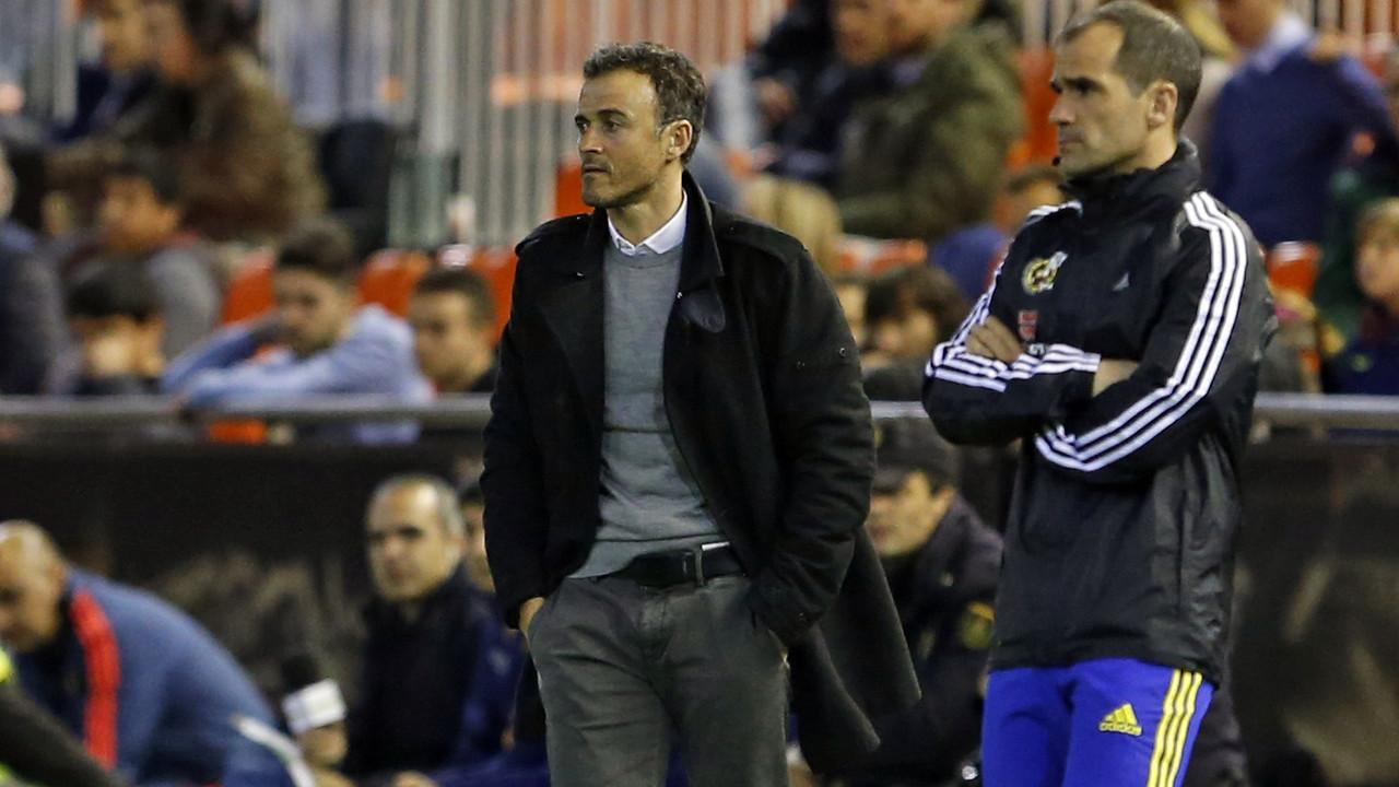 Luis Enrique during the second leg in Valencia / MIGUEL RUIZ - FCB