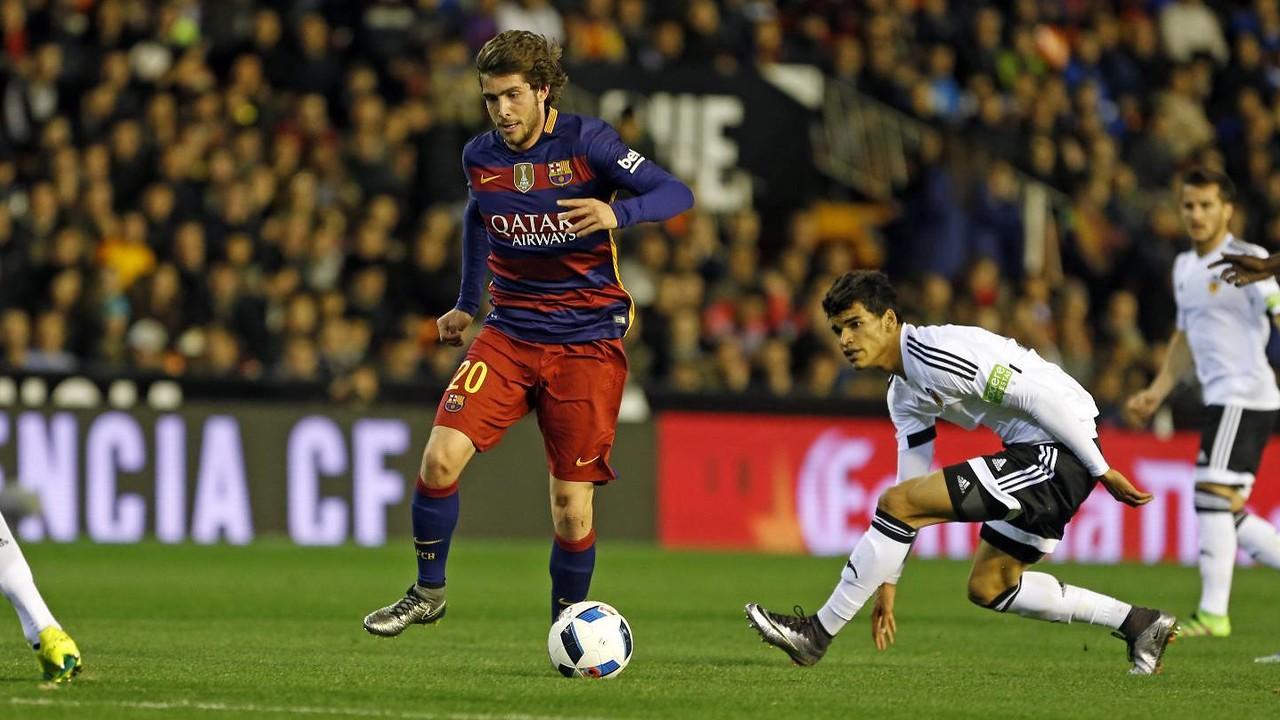 Sergi Roberto va realitzar un bon partit davant el València CF / MIGUEL RUIZ-FCB