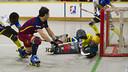 Lucas Ordoñez in action against Caldes / VICTOR SALGADO - FCB