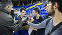 Abrines attends to reporters at Copa del Rey Media Day / VICTOR SALGADO - FCB