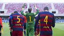 Ortolá, alongside Tarín and Gumbau, have been key in recent games / ARXIU FCB