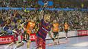 Sigurdsson scored five goals against Pick Szeged on Sunday. / VÍCTOR SALGADO - FCB