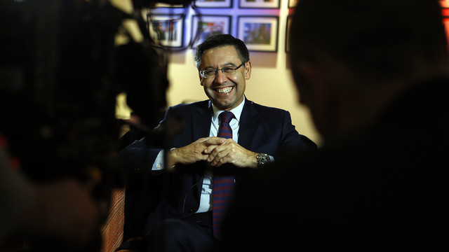 Josep Maria Bartomeu talks to the BBC. / Miguel Ruiz - FCB