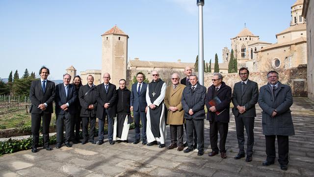 The Board of Directors at the Monastary of Poblet. / GERMÁN PARGA- FCB