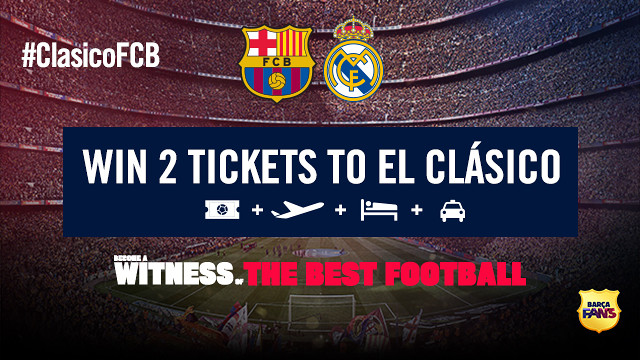 Two tickets for the Clásico
