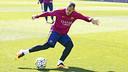 Sandro Ramírez, during Friday's training session. / MIGUEL RUIZ - FCB
