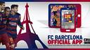 Suivez l'actualité du Barça sur votre téléphone portable / FCB