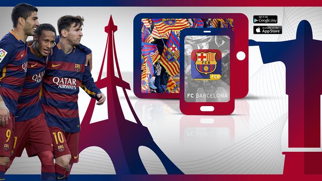 L'app del Barça, disponible en francès i portuguès