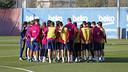 Barça's training session