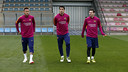 The trident warming up together on Friday / MIGUEL RUIZ - FCB