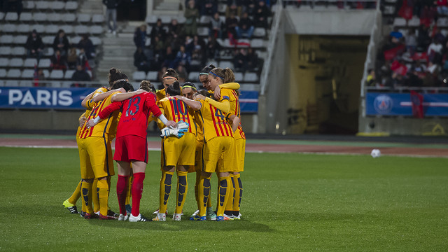 El equipo, en París / VÍCTOR SALGADO-FCB
