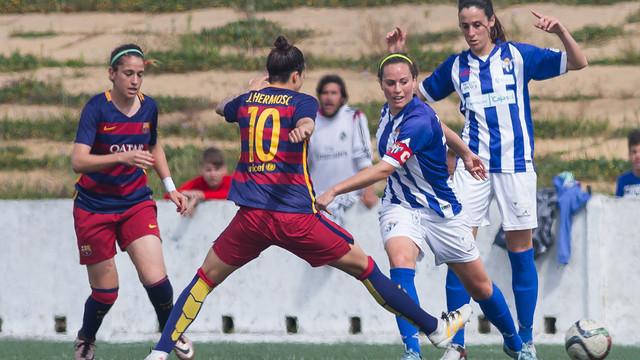 Olga y Jenni han marcado los goles del Barça en Huelva / LFP