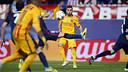 Jordi Alba, en action au Vicente Calderón / MIGUEL RUIZ - FCB