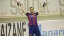 Barroso, después de marcar un gol en Bassano. FOTO: V. SALGADO - FCB