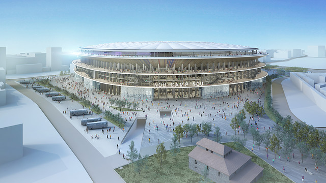 The New Camp Nou will be able to hold 105,000 spectators / FCB