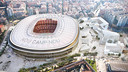 Aerial view of the New Camp Nou / FCB