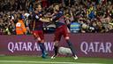 Piqué et Rakitic sont dans le groupe pour affronter le Sporting de Gijon / VICTOR SALGADO - FCB