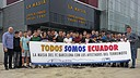 The Masia residents call for help for the people of Ecuador