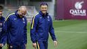 Luis Enrique, en el entrenamiento de este viernes / MIGUEL RUIZ - FCB