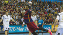 Sorhaindo in action during the game / VICTOR SALGADO - FCB