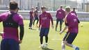 今朝の練習でのメッシ / MIGUEL RUIZ-FCB