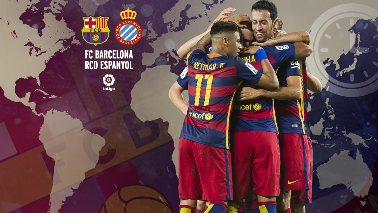 Horarios internacionales del Barça-Espanyol de la jornada 37 de Liga / FCB