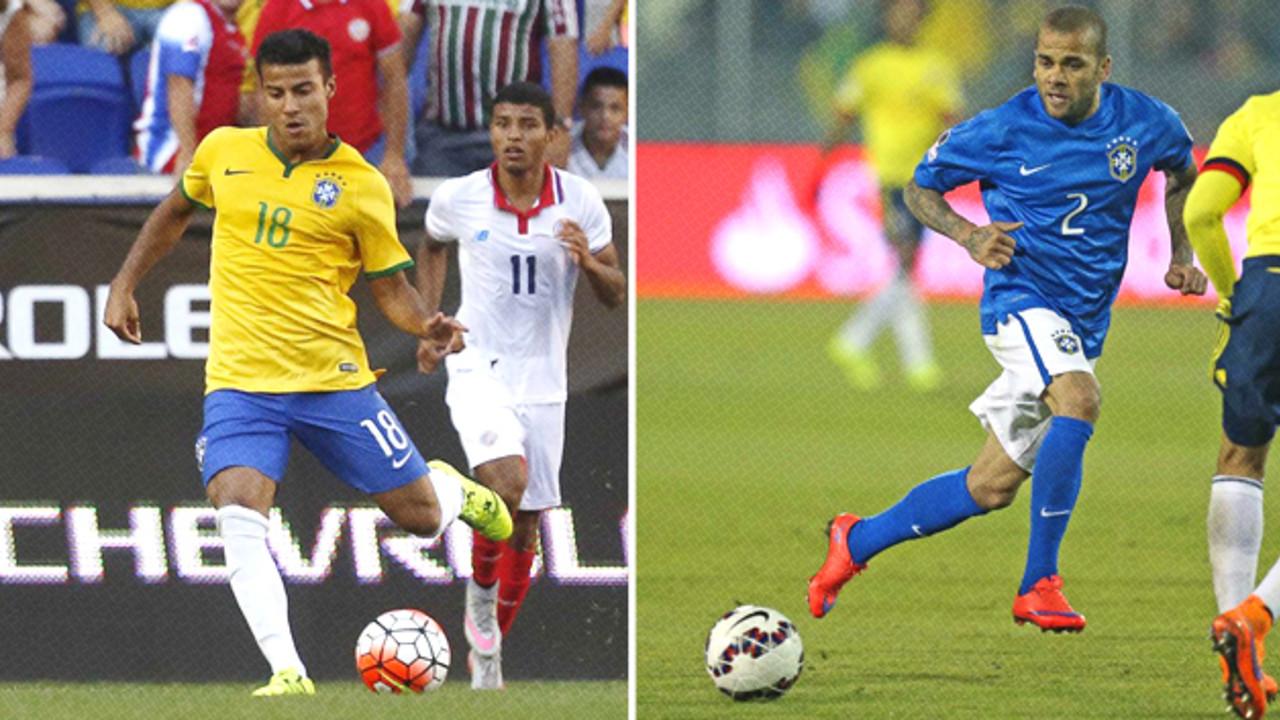 Rafinha y Dani Alves jugarán la Copa América con Brasil