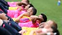 Els jugadors, en un entrenament a St. George's Park / MIGUEL RUIZ - FCB