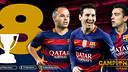Iniesta and Messi are now on 8 league titles alongside Xavi Hernández / FCB