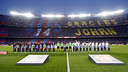 El mosaic en record de Johan Cruyff va ser una de les imatges de la Lliga 2015/16 / MIGUEL RUIZ-FCB