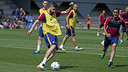 Gerard Piqué training on Wednesday morning / MIGUEL RUIZ - FCB