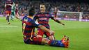 Neymar et Suárez après un but / MIGUEL RUIZ - FCB