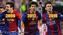 Lionel Messi has a knack for scoring in the Copa del Rey championship game. / FCB