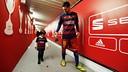 Messi amb el seu fill després de guanyar la Copa / MIGUEL RUIZ - FCB