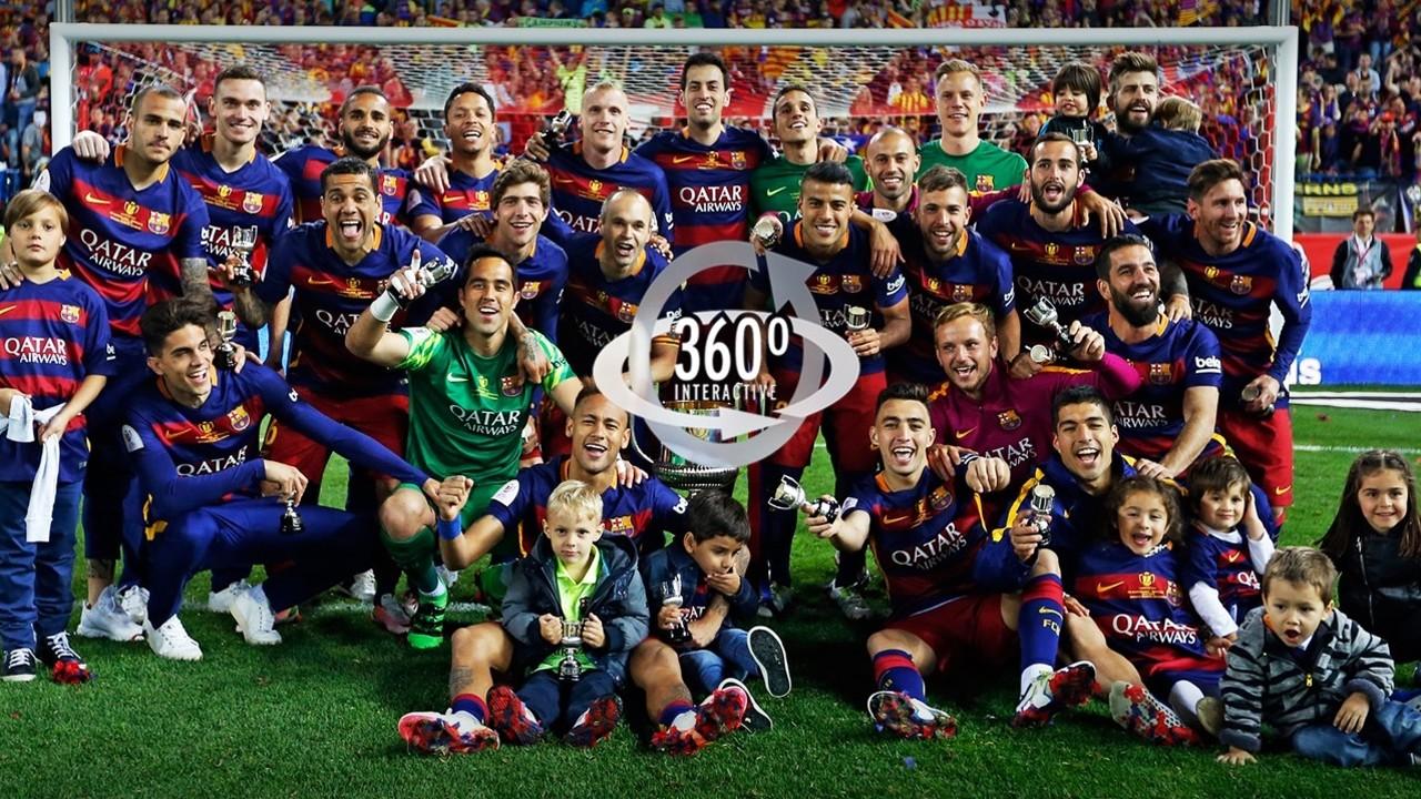 Barça pose with the Club's 28th Copa del Rey. / FCB