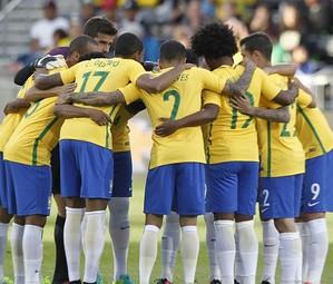 A seleção brasileira no duelo contra o Panamá