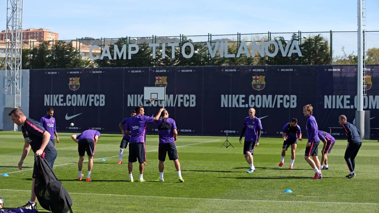 More international players back for training | FC Barcelona